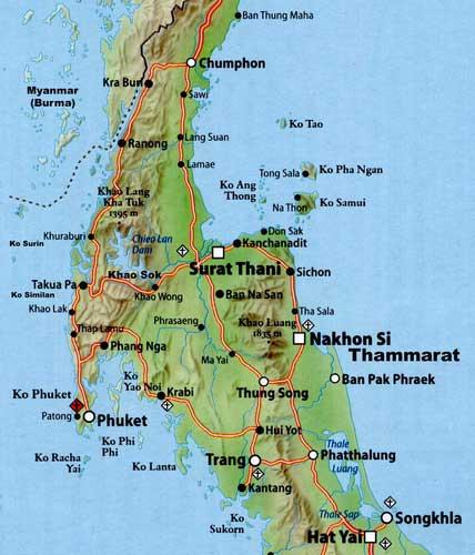 KLeo Maps Of Thailand - Map of thailand